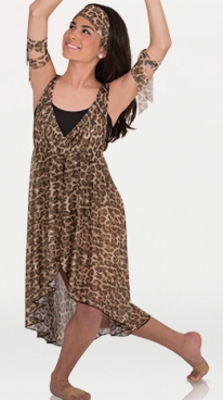 body wrappers k272 metallic chiffon high low dance dress