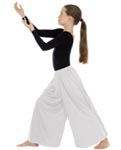 eurotard 13696c children simplicity  palazzo pants with elastic waist