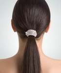body wrappers r204 flexible rhinestone ponytail holder